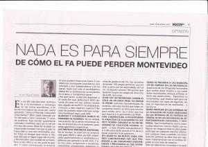Nada es para siempre – De cómo el FA puede perder Montevideo