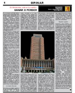 En Montevideo, esta es la cuestión:  GANAR O PERDER