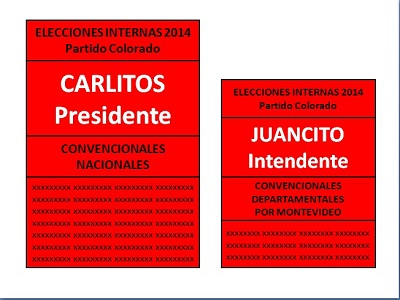 Cómo se elige un intendente TODOS LOS CANDIDATOS COLORADOS